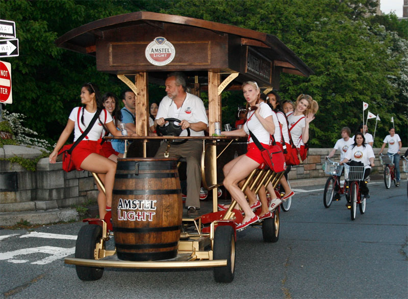 Ladyes on Beer Bike